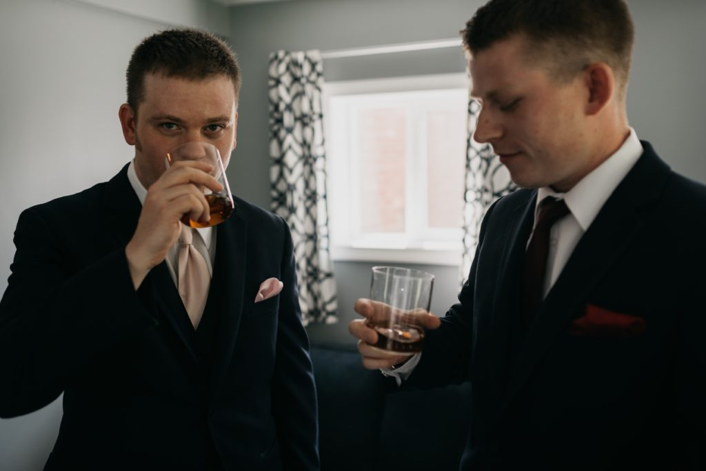 Brothers sipping Bourbon